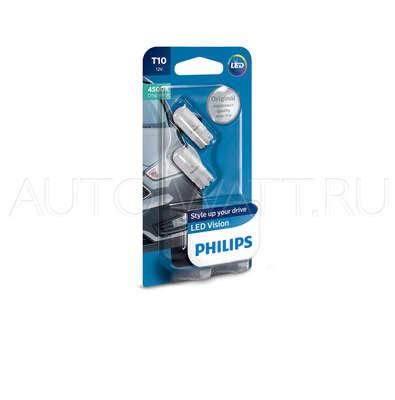 Светодиодная лампа W5W T10 – Philips X-treme Vision LED 4500K Белая