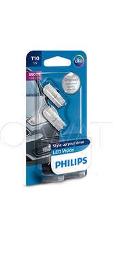 Светодиодная лампа W5W T10 – Philips X-treme Vision LED 5500K Белая